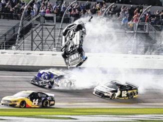Newman's crash overshadows Hamlin's 3rd win at Daytona