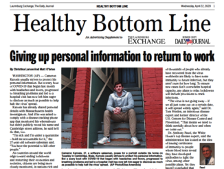 Healthy Bottom Line 4/22/20
