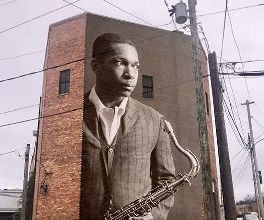 File photo                                 This is a rough draft of the John Coltrane mural that will be painted on the Raleigh Street side of the Opera House in downtown Hamlet.