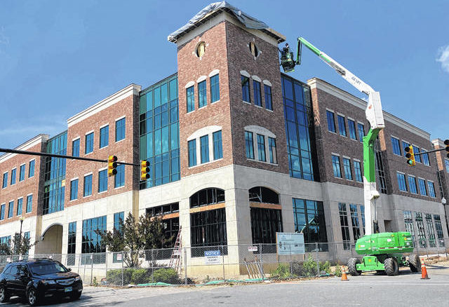 Brandon Tester | Daily Journal                                 The projected completion date for the new Robinette Building in downtown Rockingham has been pushed back to July 10. The Robinette Building will house Leon Levine School of Business and Information Technology.