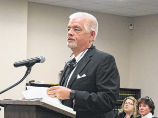 Gavin Stone   Daily Journal file photo                                 Health Director Tommy Jarrell speaks to the Richmond County Board of Education about the dangers of COVID-19 at their monthly meeting in early March.