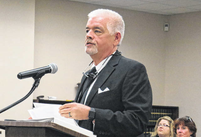 Gavin Stone | Daily Journal file photo                                 Health Director Tommy Jarrell speaks to the Richmond County Board of Education about the dangers of COVID-19 at their monthly meeting in early March.