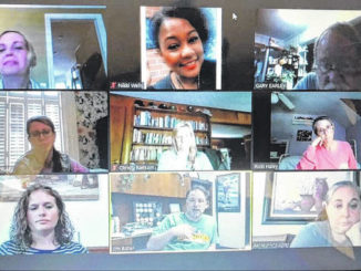 Richmond County school counselors meet online on Zoom to discuss the upcoming school year.                                  Contributed Photo