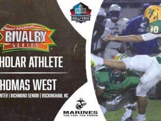 West named scholar athlete