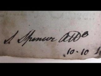 Photo courtesy of John Hutchinson                                 The signature of Judge Spencer on an Anson County document.