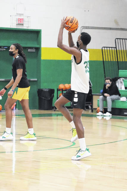 <p>Freshman guard Paul McNeil takes a jump shot during practice Monday afternoon.</p>                                  <p>Neel Madhavan | Daily Journal</p>