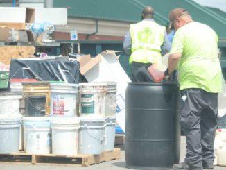 County disposes of hazardous waste