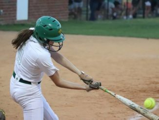 Junior Maylyn Wallace picks up a hit during Monday's game against Pinecrest.                                  Neel Madhavan | Daily Journal