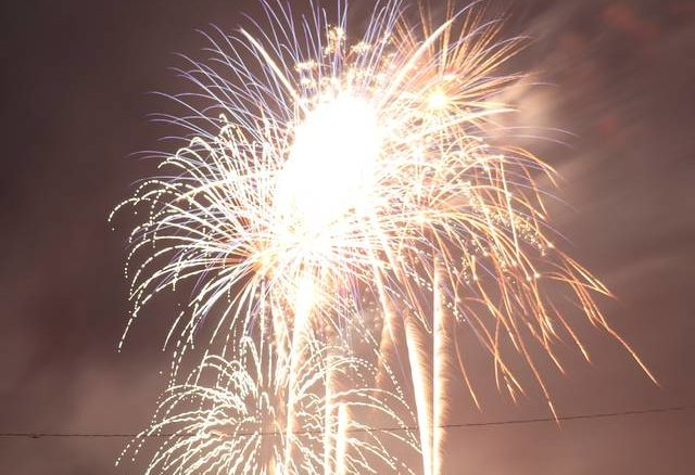 Daily Journal file photo                                 This photo shows the fireworks show put on by The Berry Patch in 2020 after other venues in the county cancelled their events due to COVID-19 restrictions and, in Hamlet's case, financial concerns.