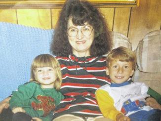 Photo courtesy of Brett Jones                                 Gladys Jones with two of her grandchildren.