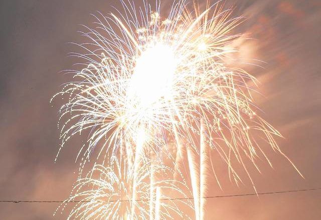 Daily Journal file photo                                 The fireworks from The Berry Patch on July 4, 2020.