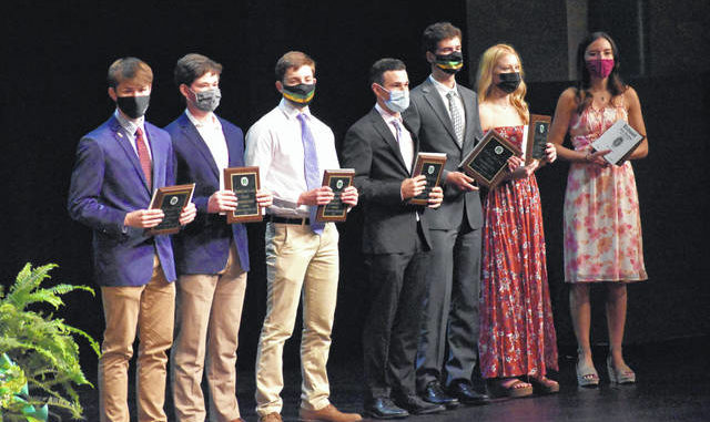 Photo courtesy of Richmond County Schools Summa Cum Laude students received plaques for their achievement.