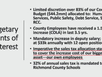 This slide was presented to the Board of Commissioners on Dec. 2, 2020 by county staff, including County Manager Bryan Land.                                   Photos courtesy of Richmond County Government