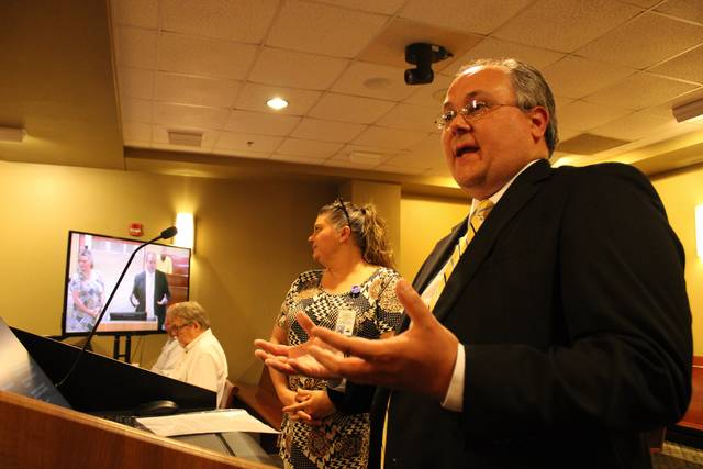 <p>Gavin Stone | Daily Journal</p>                                 <p>Lumber River Council of Governments Executive Director David Richardson told the Board of Commissioners that broadband access should be treated like an essential service like water and electricity. </p>