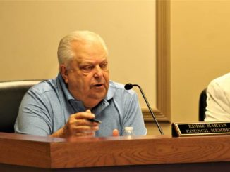 Gavin Stone | Daily Journal                                 Councilman Eddie Martin is leading an effort to change the City of Hamlet's ordinances to allow individual residents to file complaints about dogs causing disturbances.