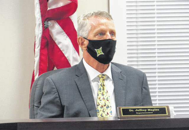 Superintendent Dr. Jeff Maples recommended the plan for universal masking.                                  Matthew Sasser | Daily Journal