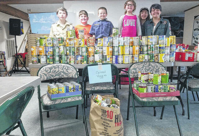 Boy Scout troops from Ellerbe, Rockingham and Hamlet donated over 5,000 pounds of food to Our Daily Bread Food Ministry in 2019.                                  Daily Journal file photo