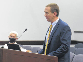 Assistant City Manager John Massey discussed updates being made to the former Food King building in Downtown Rockingham.                                  Matthew Sasser   Daily Journal