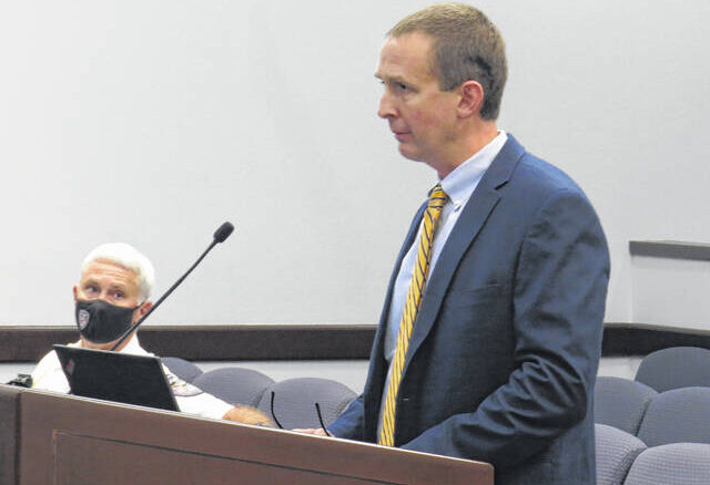 Assistant City Manager John Massey discussed updates being made to the former Food King building in Downtown Rockingham.                                  Matthew Sasser | Daily Journal