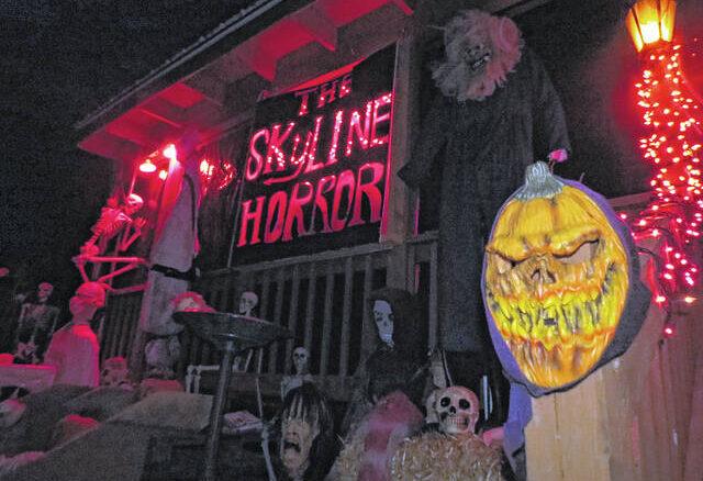 Gavin Stone | Daily Journal                                 The Skyline Horror's setup for Halloween 2019.