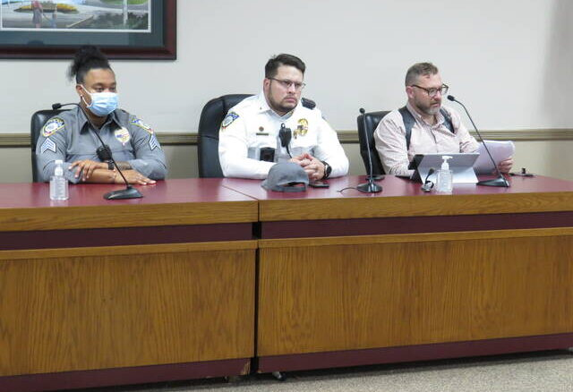 The Hamlet Police Department at their Police Review Board Meeting on Wednesday.