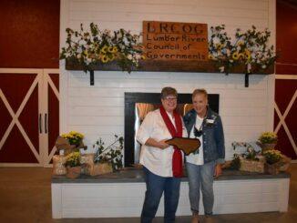 Terry Mercer (left) and LRCOG Board Member Denise Sullivan